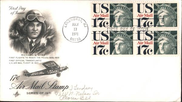 Richard E. Byrd Block of Stamps First Day Covers