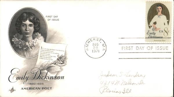 Emily Dickinson - American Poet First Day Covers