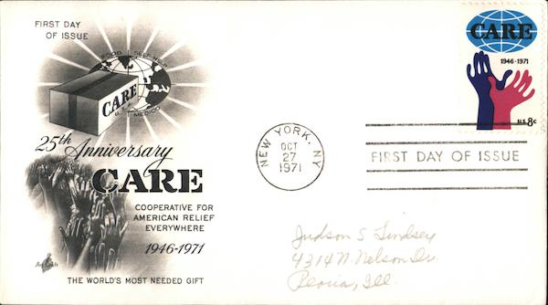 25th Anniversary CARE First Day Covers