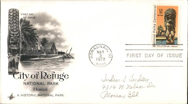 City of Refuge National Park, Hawaii First Day Covers