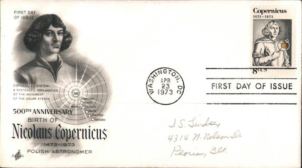 500th Anniversary Birth of Nicolaus Copernicus First Day Covers