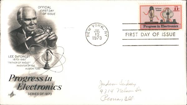 Progress in Electronics Series of 1973 First Day Covers