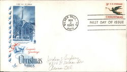 Season's Greetings Christmas 1965 First Day Cover