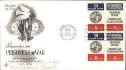 Remember the Prisoners of War - 50th Anniversary Disabled American Veterans 1920-1970 Block of Stamps