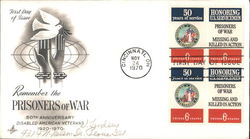 Remember the Prisoners of War, 50th Anniversary Disabled American Veterans 1920-1970 Block of Stamps