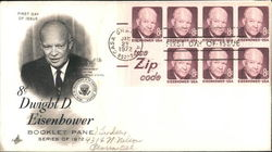 Dwight D. Eisenhower Block of Stamps First Day Cover