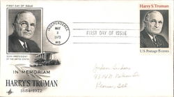 In Memoriam Harry S. Truman First Day Cover