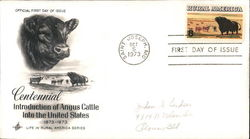Centennial Introduction of Angus Cattle into the United States 1873-1973 First Day Cover