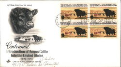 Centennial Introduction of Angus Cattle Into the United States First Day Cover