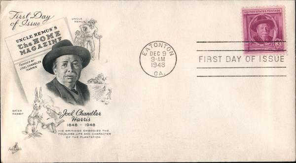 Joel Chandler Harris 1848-1948 First Day Covers