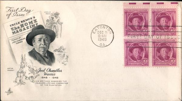 JOel Chandler Harris First Day Covers
