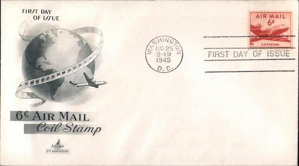 6 cent Air Mail First Day Covers
