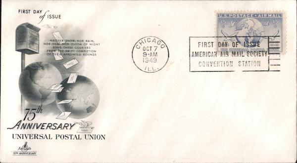 75th Anniversary Universal Postal Union First Day Covers