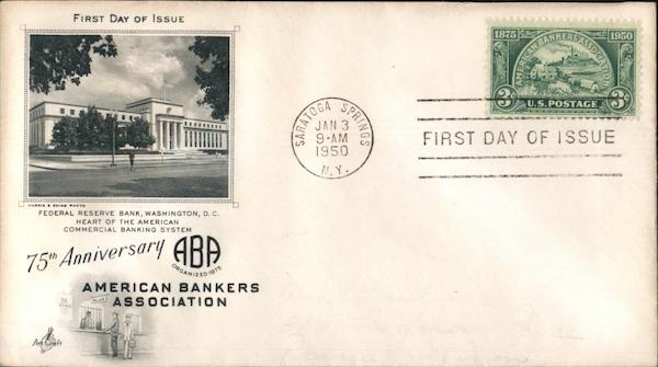 75th Anniversary American Bankers Association First Day Covers