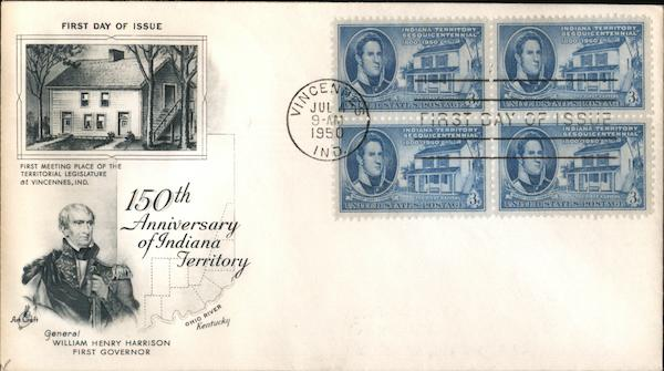 150th Anniversary of Indiana Territory Block of Stamps