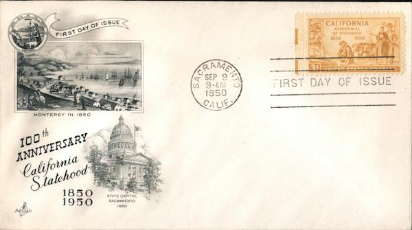 100th Anniversary California Statehood First Day Covers