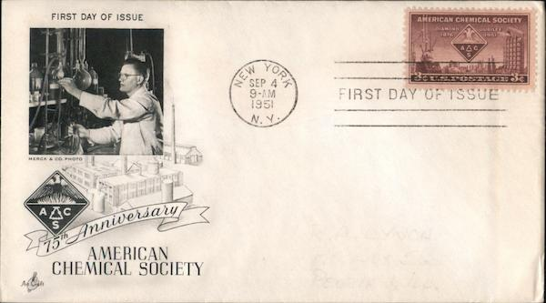 75th Anniversary American Chemical Society First Day Covers