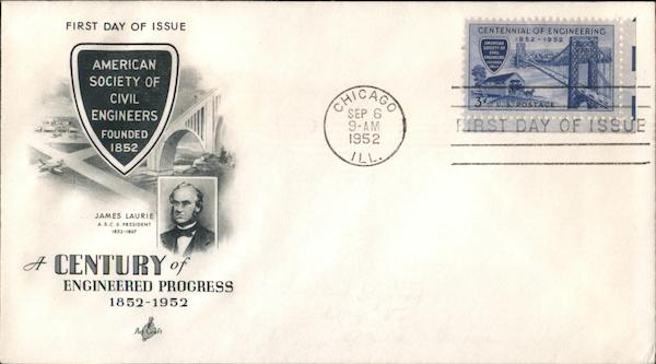 A Century of Progress 1852-1952 First Day Covers