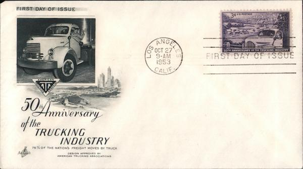 50th Anniversary of the Trucking Industry First Day Covers