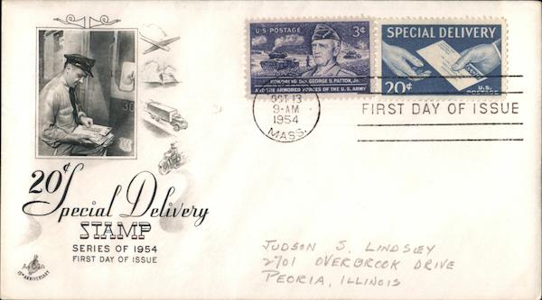 20¢ Special Delivery Stamp Series of 1954 First Day Covers