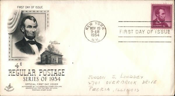 4¢ Regular Postage Series of 1954 First Day Covers