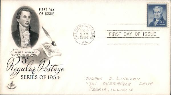 5c Regular Postage Series of 1954 First Day Covers