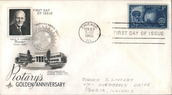 Rotary's Golden Anniversary First Day Covers