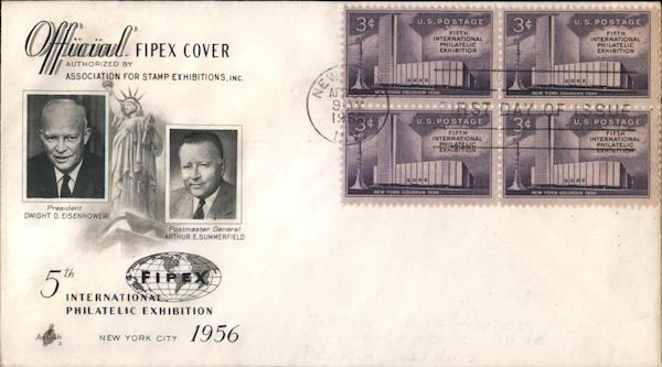 5th International Philatelic Exhibition 1956 Block of Stamps