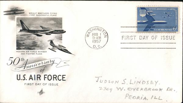 50th Anniversary of U.S. Air Force First Day Covers