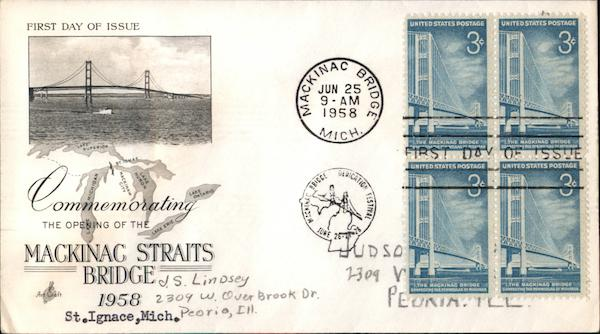 Commemorating the Opening of the Mackinac Straits Bridge, 1958, St. Ignace, Mich.
