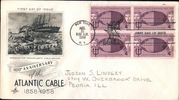 100th Anniversary of the Atlantic Cable Block of Stamps