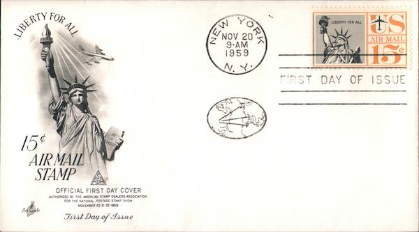 15 Cent Air Mail Stamp First Day Covers