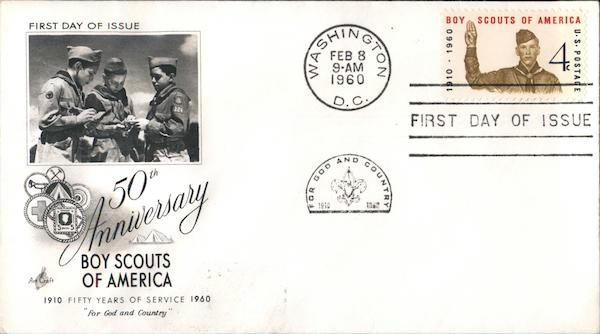 50th Anniversary of Boy Scouts of America First Day Covers