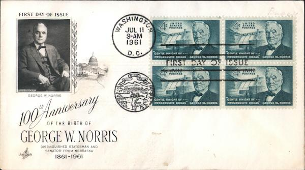 100th Anniversary of the Birth of George W. Norris Block of Stamps