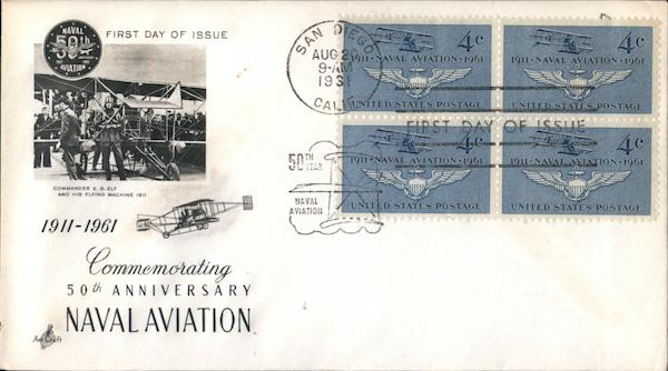 Commemorating 50th Anniversary Naval Aviation Block of Stamps