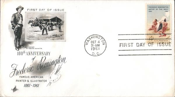 100th Anniversary of Frederic Remington First Day Covers