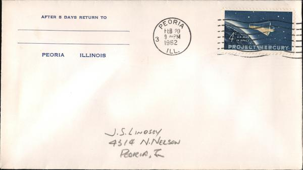 4¢ Project Mercury First Day Covers