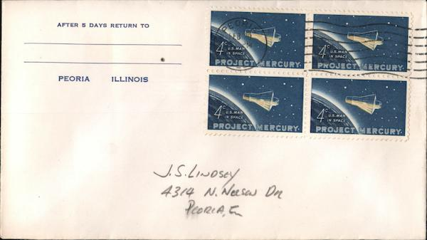 Project Mercury 4c First Day Covers