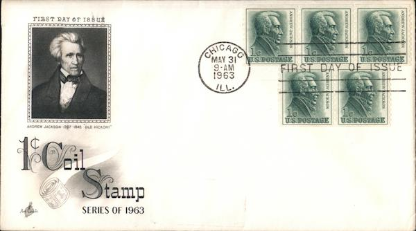 1¢ Coil Stamp Series of 1963 First Day Covers