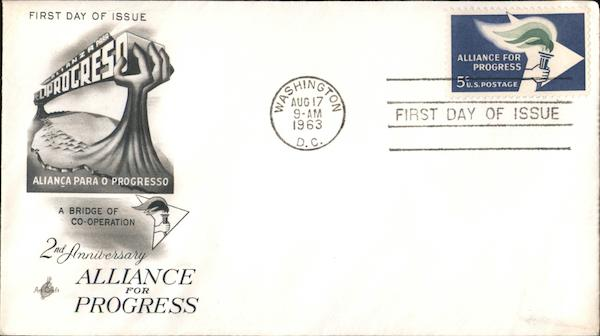 2nd Anniversary Alliance for Progress First Day Covers