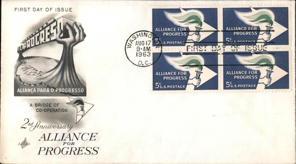 2nd Anniversary Alliance for Progress Block of Stamps