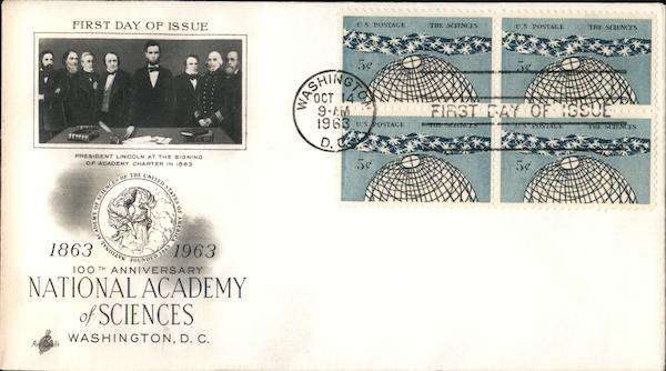 100th Anniversary National Academy of Sciences Block of Stamps