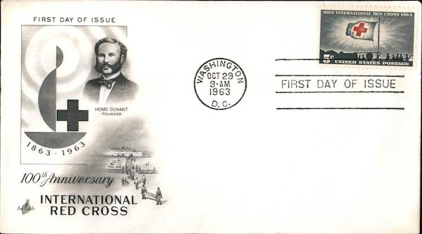 100th Anniversary International Red Cross First Day Covers