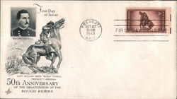 50th Anniversary of the Organization of the Rough Riders First Day Cover