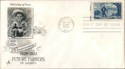 25th Anniversary Future Farmers of America 1928-1953 First Day Cover