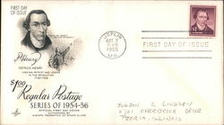 Series of 1954-56 First Day Cover