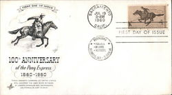 100th Anniversary of the Pony Express, 1860-1960 First Day Cover