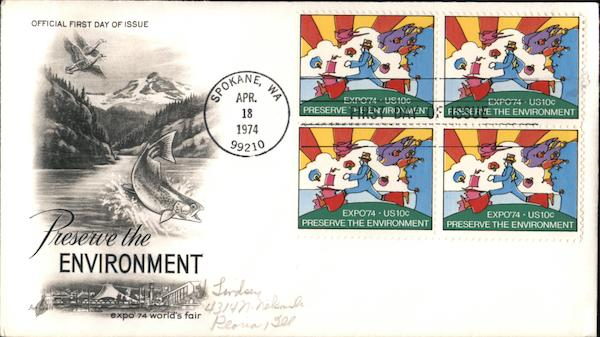 Preserve the Environment - Expo 74 World's Fair Block of Stamps