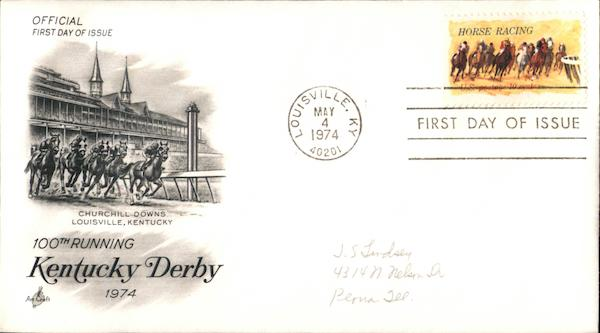100th Running Kentucky Derby First Day Covers