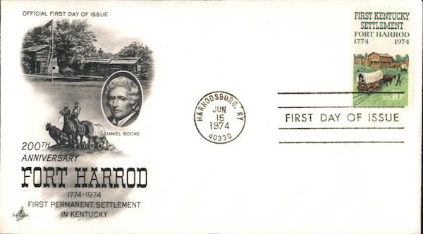 100th Anniversary Fort Harrod 1774-1974 First Permanent Settlement in Kentucky